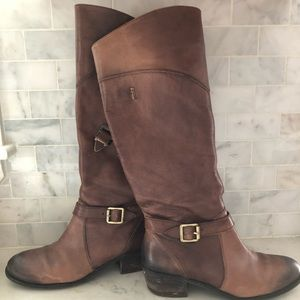 Arturo Chiang Leather Tall Boots